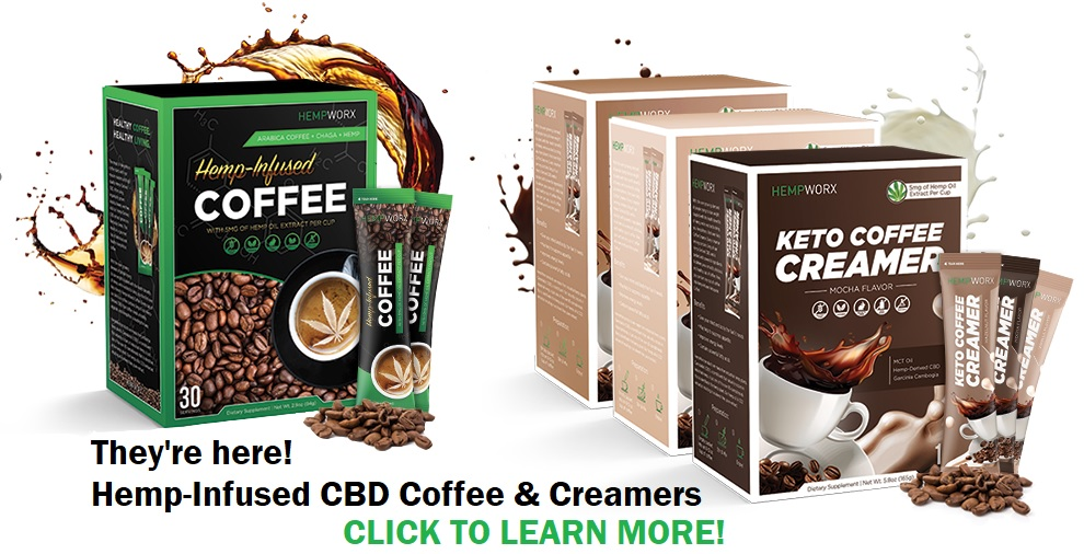 CBD Coffee and CBD Creamers - now available!